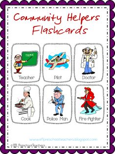 ESL/EFL Preschool Teachers: Community Helpers Worksheets and More