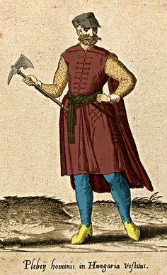 16. századi magyar  fokossal  XVIth century hungarian soldier /digitally colored/