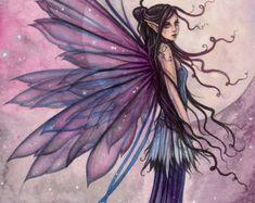 Halloween Stone Fairy Fine Art Print by Molly by MollyHarrisonArt