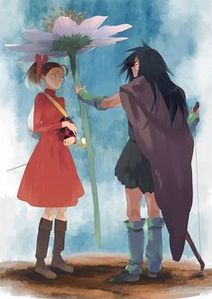 "Arietty and Spiller of ""The Secret World of Arietty"""
