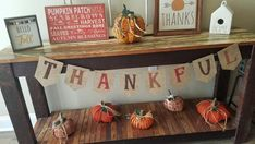 Thankful banner fall decor Thanksgiving give thanks burlap banner pumpkin autumn fall garland for mantle fall garland School Decorations, Halloween Decorations, Autumn Theme, Autumn Fall, Rag Garland, Fabric Garland, Classroom Banner, Burlap Flag, Thanksgiving Decorations