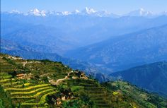 Nepal, Nagarkot with view of Mt.Everest