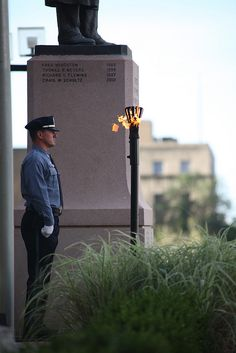 We stand guard by the torch for four hours before the ceremony starts the day of our Memorial Service... 2012 Kansas City Missouri Police Department Memorial Service