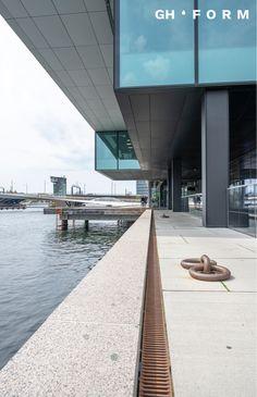GH Form dock-line waterdrain by the water in Copenhagen, Denmark.