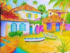 A personal favorite from my Etsy shop https://www.etsy.com/listing/181762112/buzios-fishing-village-32-x-24-on-canvas