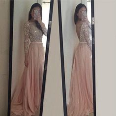 Prom Dresses With Long Sleeves Evening Party Dress pst0928