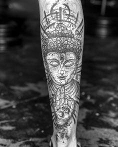 Tattoo Sleeve Tattoos, Leg Tattoo Men, Calf Tattoo, Skull Tattoos, Buddha Tattoo Design, Clock Tattoo Design, Tattoo Designs, Nature Tattoos, Life Tattoos