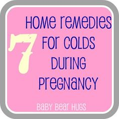 Cold Natural Remedies Pregnant
