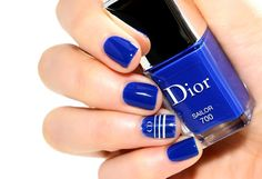 Dior: ♥ SAILOR ♥ with Dior Nail Art Stickers.  Summer 2014 Collection.