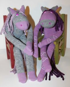 Sock Horses for the Cowboys and Cowgirls... by CraftyCountryCorner