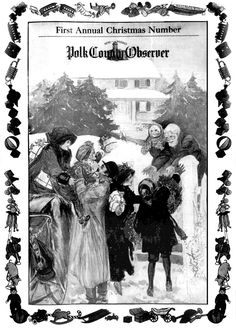 Vintage Home For Christmas Newspaper cover by Sue2BlueEyes.deviantart.com on @DeviantArt