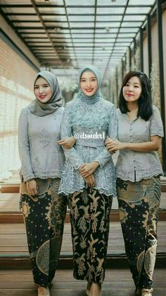 Ideas For Dress Hijab Formal Modern Abaya Kebaya Lace, Batik Kebaya, Kebaya Dress, Batik Dress, Kebaya Modern Hijab, Kebaya Hijab, Kebaya Muslim, Modern Abaya, Model Rok Kebaya