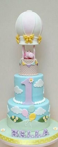 Peppa Pig Balloon Party Cake