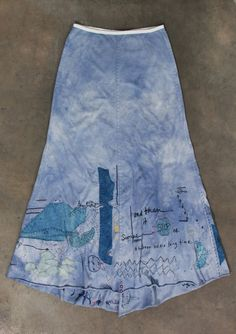 embroidered long skirt from alabama chanin. i love this concept! Couture, Reverse Applique, Piece Of Clothing, Lace Clothing, Sewing Clothes, Refashion, Alabama, Hand Sewing, Sewing Projects