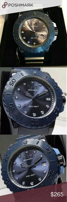 NWT emporio Armani sportivo blue watch Brand new Emporio Armani Blue Men's Sports Watch    Firm price firm price firm price?  $265.00  . AUTHENTIC WATCH?  . AUTHENTIC BOX?  . AUTHENTIC MANUAL?    SHIPPING?  PLEASE ALLOW FEW BUSINESS DAYS FOR ME TO SHIPPED IT OFF.I HAVE TO GET IT FROM MY STORE.?    THANK YOU FOR YOUR UNDERSTANDING. Emporio Armani Accessories Watches