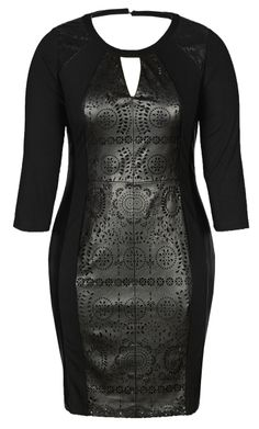 City Chic - LASER CUT LADY DRESS - Women's Plus Size Fashion