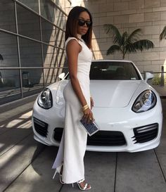 Is Bonang Matheba still a Queen B? Wealthy Lifestyle, Luxury Lifestyle Women, Rich Lifestyle, White Pantsuit, White Jumpsuit, Porsche Models, White Suits, Boss Lady, Girl Boss