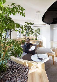Office design of A Hidden Garden Behind the Concrete Walls / Muxin Design - 12