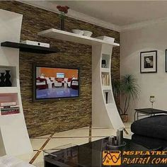 interior project in kolkata modern living room by estate lookup int. -Contemporary interior project in kolkata modern living room by estate lookup int. - Here you will find photos of interior design ideas. Get inspired! Tv Unit Design, Tv Wall Design, Design Case, House Design, Tv Design, Design Ideas, Modern Tv Wall Units, Living Room Tv Unit, Plafond Design