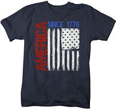 Shirts By Sarah Mens Patriotic America Since 1776 Distressed Flag July Shirt - Monogram Fishing Shirt - Ideas of Monogram Fishing Shirt - Vinyl Shirts, Kids Shirts, Mens Patriotic Shirts, Fourth Of July Shirts, July 4th, Fishing Shirts, Diy Shirt, Shirt Designs, American Flag