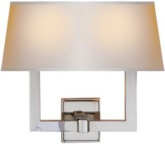 "circa lighting TWO LIGHT SQUARE TUBE SCONCE 14"" tall, 15"" wide, 7 1/4"" depth"