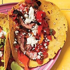 Steak Tacos with Lime Mayo | MyRecipes.com