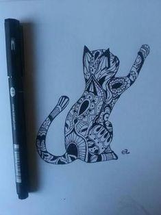 Tribal Cat Tattoo Design by Heartless – … – Tattoos Cat Mandala Tattoo, Butterfly Mandala, Mandala Art, Wolf Tattoos, Animal Tattoos, Tatoos, Back Tattoo Women, Tattoos For Women, Pretty Tattoos