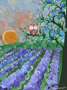 Hoolandia Owl Seasons - Summer, by MiMi Stirn