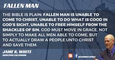 The idea that the fallen creature has the ability to control God's free and sovereign work of salvation does not find its origin in . James White, Robert White, Scripture Verses, Bible Quotes, Grace Alone, Christian Apologetics, Reformed Theology, True Faith
