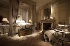 Photography courtesy of Joshua McHugh, Architectural Digest Ralph Lauren, icon of fashion, lifestyle, and interiors. His name is synonymo. Dream Bedroom, Home Bedroom, Master Bedroom, Bedroom Decor, Bedroom Rustic, Bedroom Ideas, Ralph Lauren Store, Architectural Digest, Luxurious Bedrooms