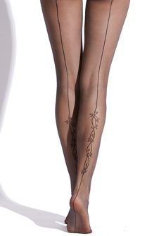 PHILIPPE MATIGNON Elegance Tonique Tights with tattoo details. $13