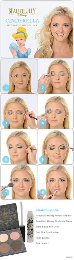 Cinderella Makeup Tutorial because every girl wants to be a princess!!