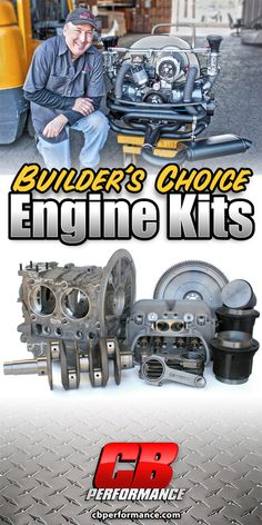 CB Performance now offers Builder's Choice Engine Kits, the best way to assemble parts for your next engine build. Each of these kits was planned out by CB's own Pat Downs based on years of VW engine building experience. Volkswagen Karmann Ghia, Vw T1, Vw Wagon, Vw Dune Buggy, Vw Engine, Vw Parts, Porsche 550, Beetle Car, Vw Beetles