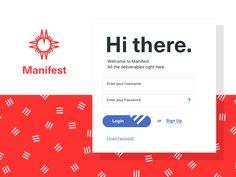 Manifest App Login by Matthew Smith