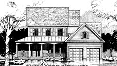 Home Plan HOMEPW02863 - 2064 Square Foot, 3 Bedroom 2 Bathroom Country Home with 2 Garage Bays | Homeplans.com