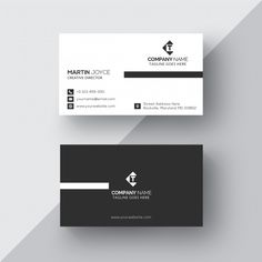 Corporate Modern Black and White Business Card Template - Graphic Hit Fashion Business Cards, Luxury Business Cards, Minimalist Business Cards, Elegant Business Cards, Business Cards Layout, Letterpress Business Cards, Visiting Card Design, Name Card Design, Bussiness Card