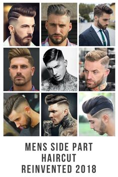 Mens Side Part Haircuts Reinvented + Updated For 2018. Created by the Worlds Best Barbers.