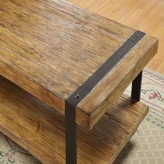 Riverside Furniture Sierra Rectangular Cocktail Table in Distressed Landmark Worn Oak $235