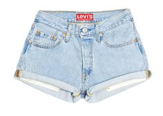 Levis High Waisted Cuffed Denim Shorts Rolled Up by BaileyRayandCo