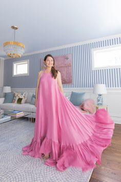 Crate and Barrel Custom Upholstery Sale - Style Charade How To Make Skirt, Modern Princess, Types Of Skirts, Pink Maxi, Princess Costumes, Halter Maxi Dresses, Summer Outfits Women, Colourful Outfits, Spring Summer Fashion