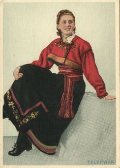Norway Norge Telemark Woman in Costumes 1940s | eBay
