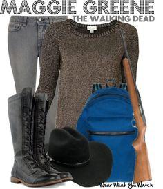 Inspired by Lauren Cohan as Maggie Greene on The Walking Dead.