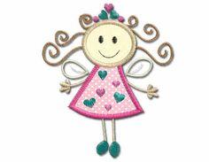 Fairy Princess Applique ,machine embroidery Designs