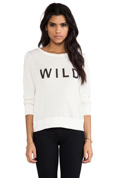 Wildfox Couture Wild Baggy Beach Jumper in Vintage Lace $109