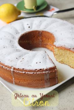 Recette gateau au yaourt citron