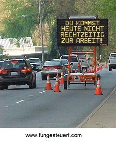 Bauarbeiter-Humor. Kommt ihr auch manchmal zu spät zur Arbeit?