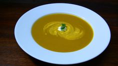 Classic Pumpkin Soup - earthy pumpkin spiced with cumin, turmeric and nutmeg. A winter warmer if ever there was one