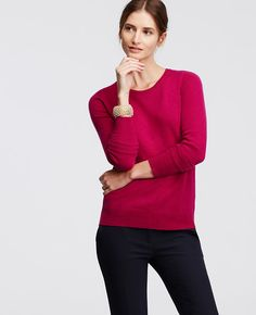 You can never go wrong with a classic cashmere sweater. These Ann Taylor sweaters come in many different colors.