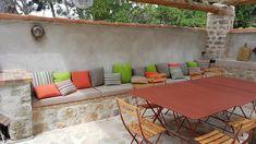 Casamance, Banquette, Outdoor Furniture Sets, Outdoor Decor, Home Decor, Atelier, Exterior Decoration, Decoration Home, Room Decor