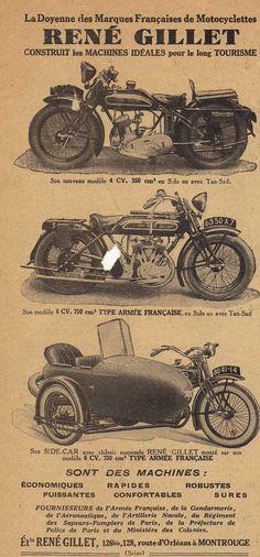 Publicity for René Gillet motorcycle in 'Moto Revue' februari 1828